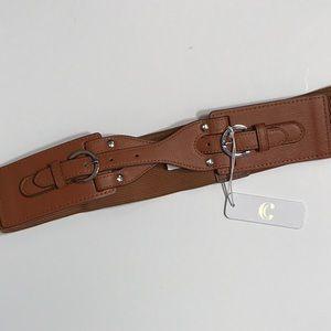 Brown stretch Buckle belt Medium Charming Charlie